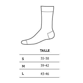 Tailles chaussettes Trangoworld