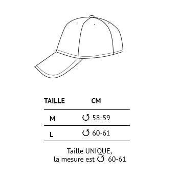 Tailles casquettes Trangoworld