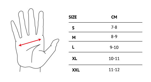Trangoworld Glove sizes