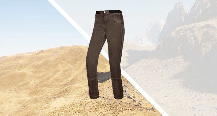Cotton-elastan pant for climbing and boudering